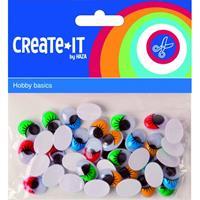 Haza Zelfklevende wiebelogen met gekleurde wimper 40 stuks