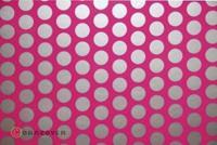 Strijkfolie Oracover 41-014-091-002 Fun 1 (l x b) 2 m x 60 cm Neon-roze-zilver (fluorescerend)