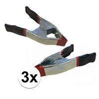 Bellatio 3x lijmklemmen / marktklemmen 15 cm