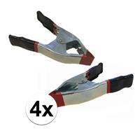 Bellatio 4x lijmklemmen / marktklemmen 15 cm