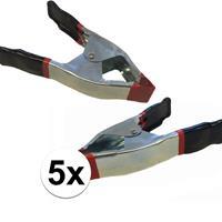 Bellatio 5x lijmklemmen / marktklemmen 15 cm
