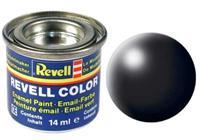 Revell Enamel NR.302 Zwart Zijdemat - 14ml
