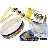 Voggenreiter Rhythmic Village Percussion-Set, Instrumente und App