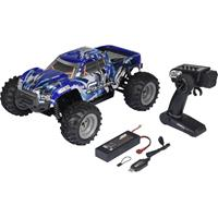 Reely Cyclone 1:10 Brushed RC modelauto voor beginners Elektro Monstertruck 4WD 100% RTR 2,4 GHz Incl. accu, oplader en batterijen voor de zender