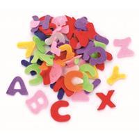 Hobby vilt 150 gekleurde vilten letters 2,5 cm Multi