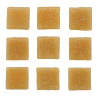 Geen 30 stuks vierkante mozaieksteentjes beige 2 cm Beige