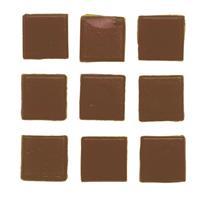 Geen 30 stuks vierkante mozaieksteentjes bruin 2 cm Bruin