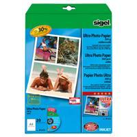 sigel Ultra-Foto-Papier, DIN A4, seidenmatt, 260 g/qm