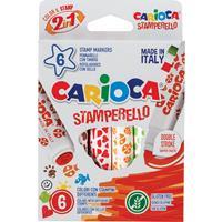Carioca stempelstift Stamperello, doos van 6 stuks in geassorteerde kleuren