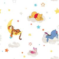 Kids at Home Behang Pooh Rise and Shine wit DF70799