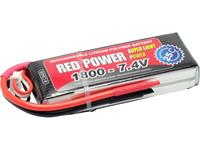 Red Power LiPo accupack 7.4 V 1800 mAh Aantal cellen: 2 25 C Softcase Open kabeleinden