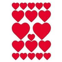 Valentijn - 114x hartjes love stickers Rood