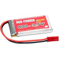 Red Power LiPo accupack 3.7 V 800 mAh Aantal cellen: 1 25 C Softcase BEC