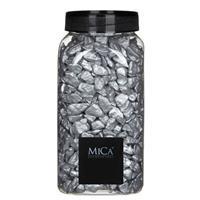Mica Decorations Decoratie/hobby stenen zilver 1 kg Zilver