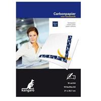 Kangaro 10x Carbonpapier/transferpapier vellen blauw A4 formaat Blauw