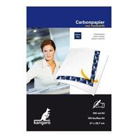 Kangaro 100x Carbonpapier/transferpapier vellen blauw A4 formaat Blauw