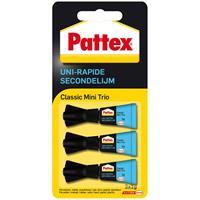 Pattex Secondelijm  Classic mini trio tube 3x1gram op blister