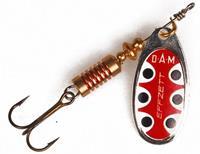 DAM Effzett standard spinner- 3.5 cm - silver black dot
