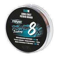 Rive Power Sinking Feeder Braid - Bruin - 8x 0.16mm - 150m