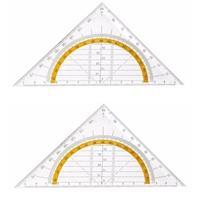 Geen 2x Geo driehoek 14 cm Transparant