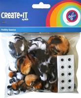 knutselset Create it Animal mix met oogjes 60 stuks