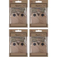 80x Cadeau tags/labels kraftpapier/karton aan jute touw 7 cm Bruin