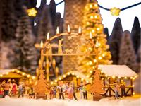 NOCH 0014391 H0 Toegangsboog kerstmarkt