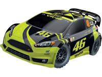 Traxxas Ford Fiesta Rally VR46 Brushed 1:10 RC auto Elektro Straatmodel 4WD RTR 2,4 GHz