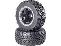 Reely 1:5 Monstertruck Complete wielen Block-Profiel 6-spaaks Aluminium 2 stuk(s)
