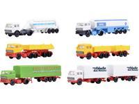 Kibri 36980 Z 6-delige set vrachtwagen-zadel.
