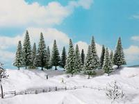 NOCH 0024680 Set bomen Besneeuwde dennen 100 tot 140 mm Groen 8 stuk(s)