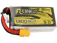 Tattu LiPo accupack 14.8 V 1300 mAh Aantal cellen: 4 120 C Softcase XT60