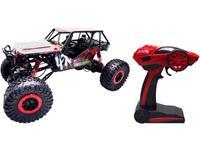 Amewi 22216 Crazy Crawler 1:10 RC modelauto voor beginners Elektro Crawler 4WD Incl. accu, oplader en batterijen voor de zender