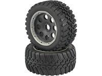 Reely 1:6 Buggy Complete wielen V-Block 6-spaaks Zwart 1 stuks
