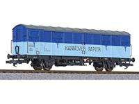 Liliput L231132 H0 overdekte rij boot wagen Hannover papier