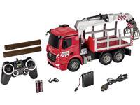 Carson Modellsport Houttransporttruck 1:20 RC functiemodel voor beginners Landbouwvoertuig Incl. accu, oplader en batterijen voor de zender