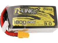 Tattu LiPo accupack 14.8 V 1800 mAh Aantal cellen: 4 120 C Softcase XT60