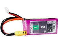 hacker LiPo accupack 7.4 V 900 mAh Aantal cellen: 2 25 C Softcase XT60