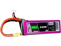 hacker LiPo accupack 7.4 V 2400 mAh Aantal cellen: 2 20 C Softcase XT60