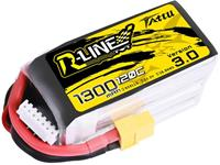Tattu LiPo accupack 22.2 V 1300 mAh Aantal cellen: 6 120 C Softcase XT60