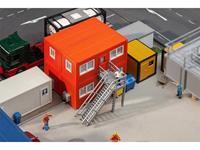 Faller 130135 H0 4-delige set bouwcontainer, oranje