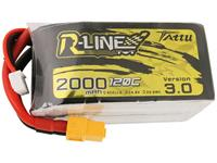 Tattu LiPo accupack 14.8 V 2000 mAh Aantal cellen: 4 120 C Softcase XT60