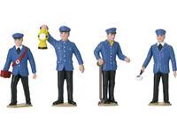 LGB L53001 G 4-delige set figuren spoorwegpersoneel van de DB
