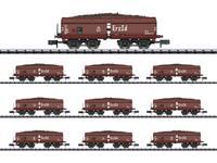 MiniTrix T15449 N 10-delige set zelflossers van de DB