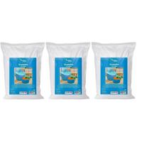 3 Sets piepschuim balletjes in zak 10 liter Wit