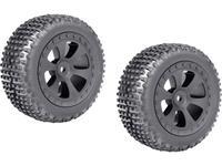 Reely 1:10 Buggy Complete wielen Multipin 6-spaaks Zwart 1 paar