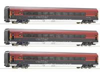 roco 74086 3-delig Set: Railjet, Ã-BB