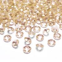 100x Hobby/decoratie gouden diamantjes/steentjes 12 mm/1,2 cm Goudkleurig