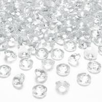 100x Hobby/decoratie transparante diamantjes/steentjes 12 mm/1,2 cm Transparant