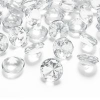 10x Hobby/decoratie transparante diamantjes/steentjes 20 mm/2 cm Transparant